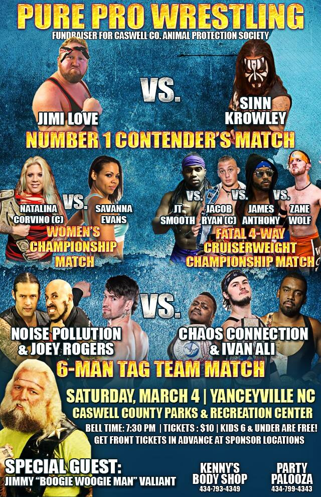 Wrestling Fundraiser – March 4th
