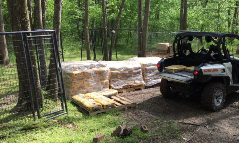 New Kennels – The concrete has arrived
